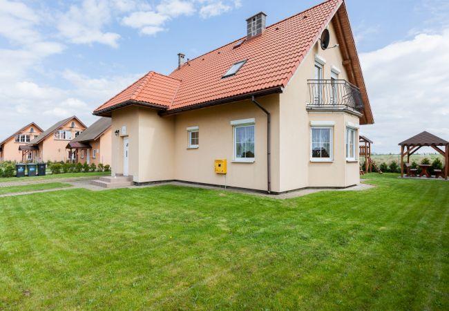 Ferienhaus, Mewa, Gebäude, Garten, draussen, Grill, Insel Wolin, Zastań